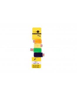 Mor Yeşil Sarı Turuncu Renkli Kablo Toplayıcı Model 2