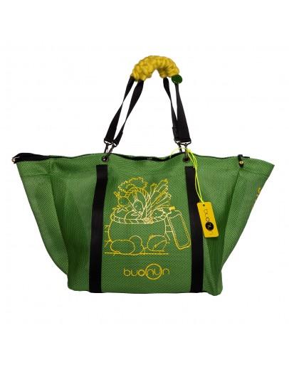 Yeşil Renk Filebezi Çok Fonksiyonel Alışveriş Çantası